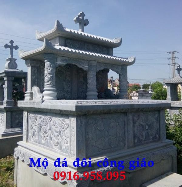 Mẫu mộ đá đôi công giáo
