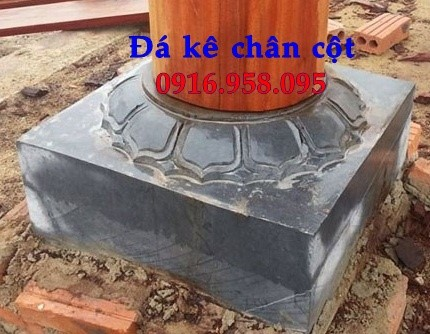mẫu đá kê chân cột đình