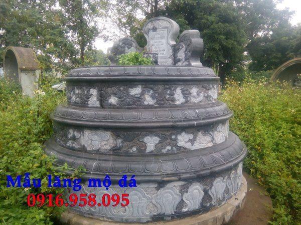 Kích thước mẫu mộ đá tròn thanh hóa