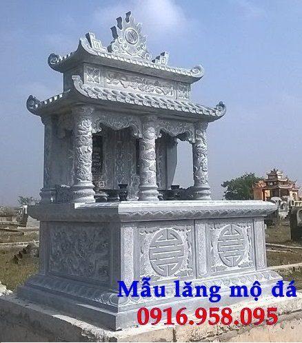 Mẫu mộ đá xanh ninh bình hai mái
