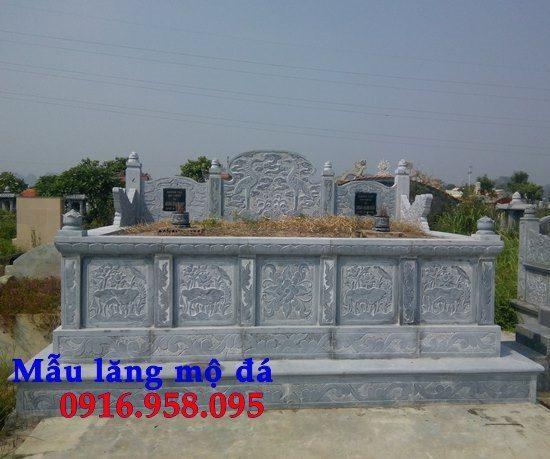 Mẫu mộ đá xanh thanh hóa không mái nguyên khối