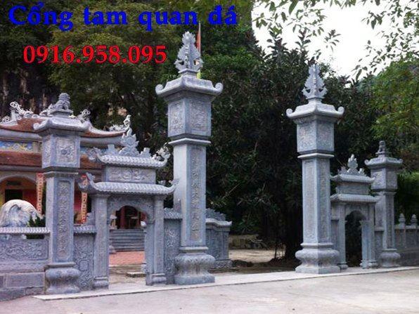 Cổng đá đẹp, mẫu cổng tam quan chùa đẹp 2018