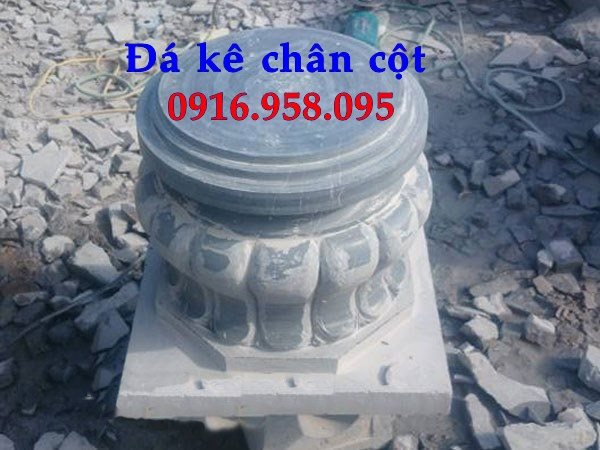 Chân cột đá tròn - đá kê cột nhà gỗ đẹp