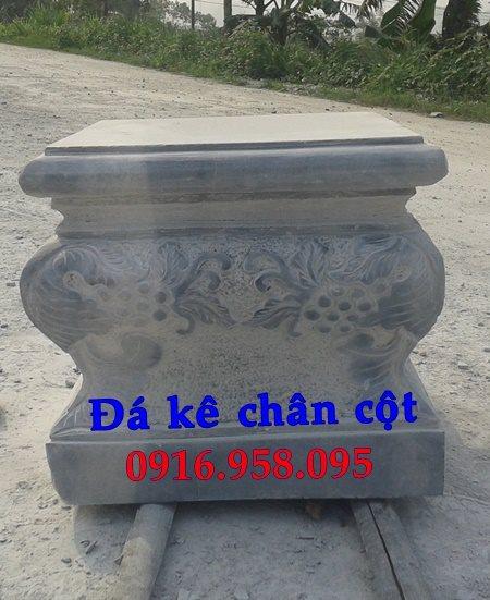 Chân cột đá vuông - đá kê cột gỗ đình chùa
