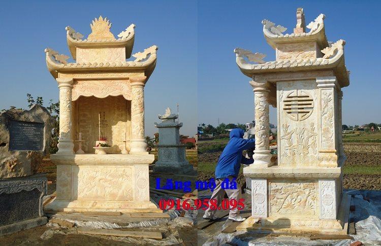 Mẫu mộ đá đẹp 2018 lắp ở Hưng Yên
