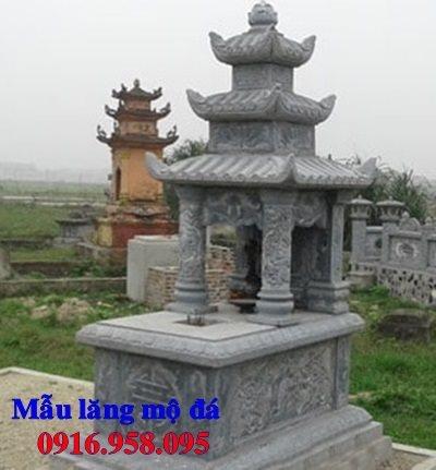 Mẫu mộ đá đẹp có mái che lắp Hải Dương