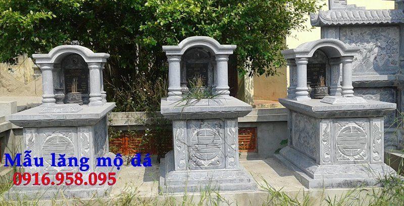 Mẫu mộ đá xanh nguyên khối đẹp nhất thái bình
