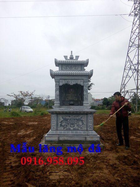 Mẫu mộ bằng đá đẹp lắp ở Thái Bình