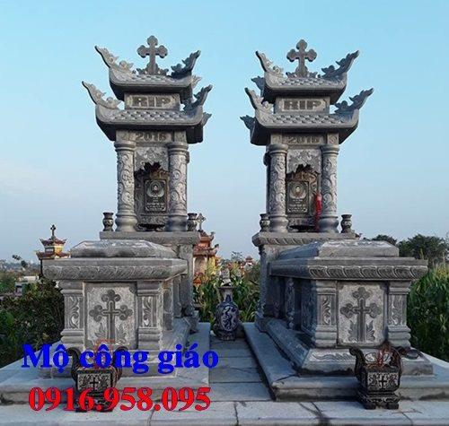 Mẫu mộ công giáo đẹp lắp ở Thái Bình