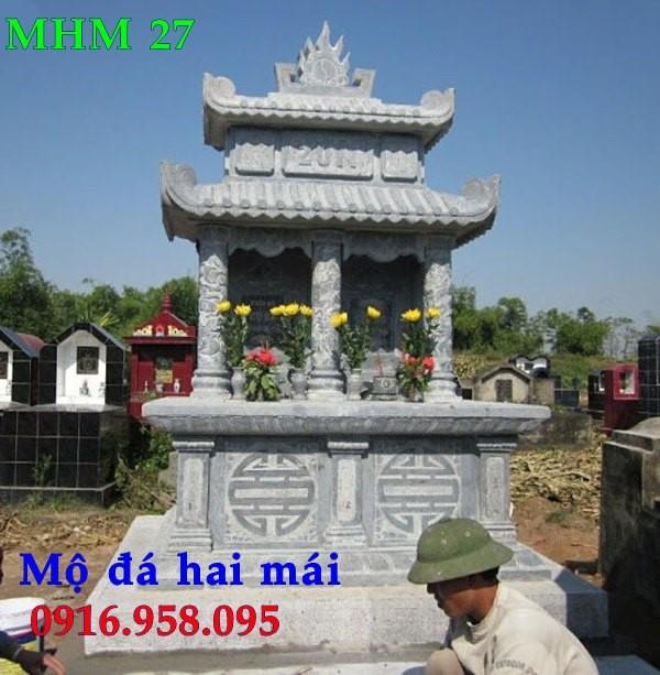 Mộ bằng đá đẹp lắp ở Hà Nội