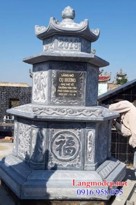 mộ tháp lục giác bằng đá