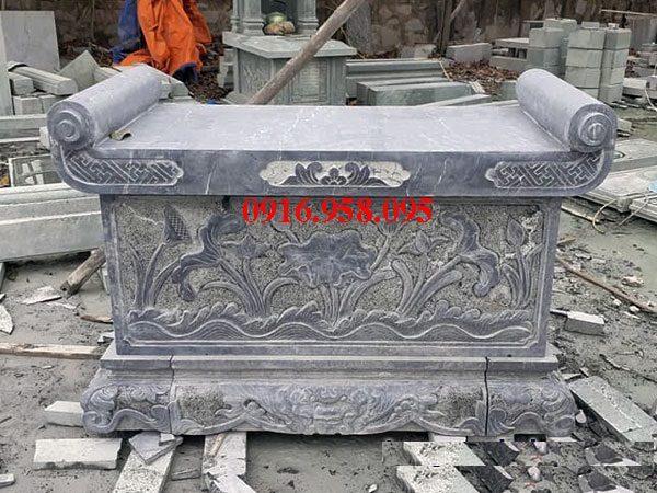 Bàn lễ đá đẹp lắp đặt tại đình đền chùa