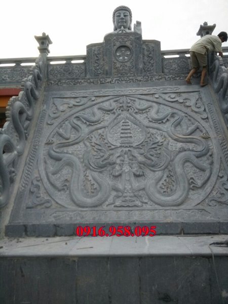 Chiếu rồng đá đình chùa đẹp