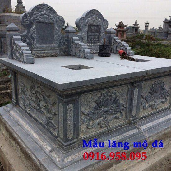 Mẫu mộ đá đôi tam sơn không mái