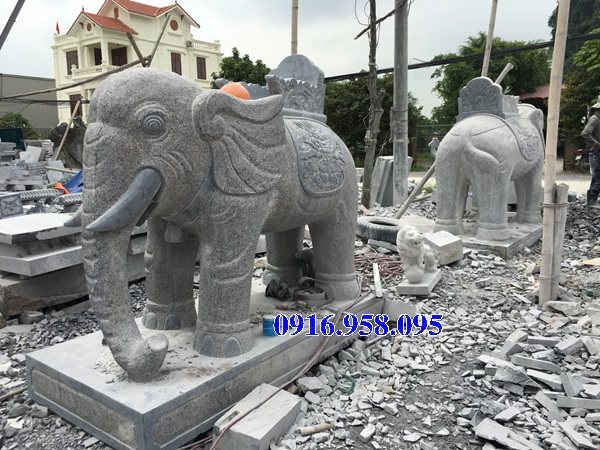 Mẫu voi đá đẹp - Tượng voi đá đền chùa