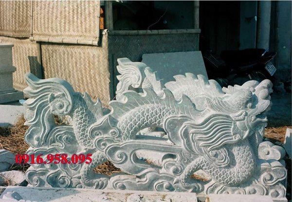Rồng đá đẹp lắp đặt tại đình làng Việt Nam