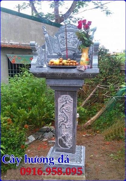 35 Mẫu cây hương thờ ngoài trời bằng đá đẹp