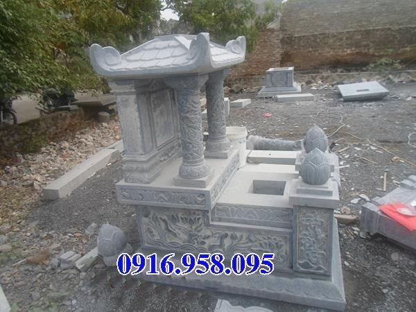 39 Mẫu mộ đá một mái đẹp nhất hiện nay 32