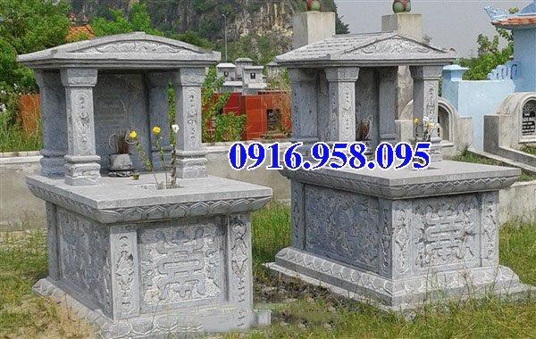 39 Mẫu mộ đá một mái đẹp nhất hiện nay 36