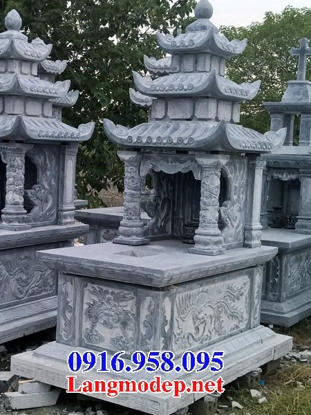 50 Mẫu mộ đá ba mái đẹp bán giá rẻ 15