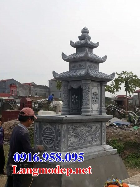 50 Mẫu mộ đá ba mái đẹp bán giá rẻ 40