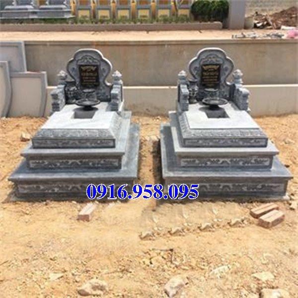 50 Mẫu mộ tam cấp bằng đá xanh đẹp 03