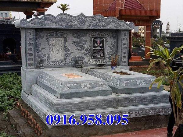 50 Mẫu mộ tam cấp bằng đá xanh đẹp 04