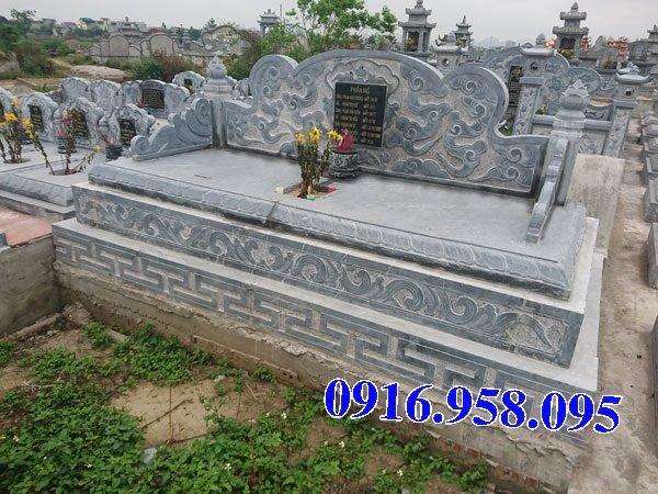 50 Mẫu mộ tam cấp bằng đá xanh đẹp 06