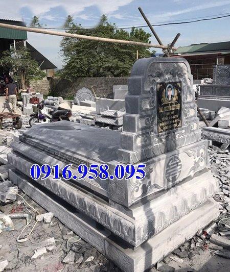 50 Mẫu mộ tam cấp bằng đá xanh đẹp 07
