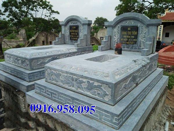 50 Mẫu mộ tam cấp bằng đá xanh đẹp 08