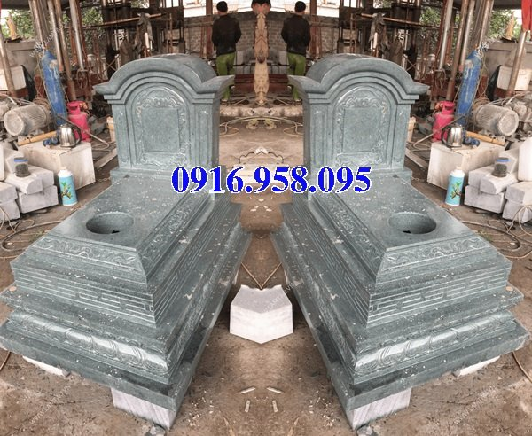 50 Mẫu mộ tam cấp bằng đá xanh đẹp 13