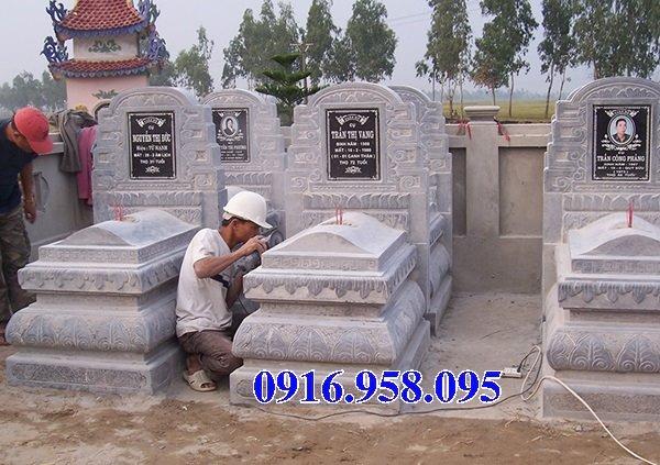 50 Mẫu mộ tam cấp bằng đá xanh đẹp 15