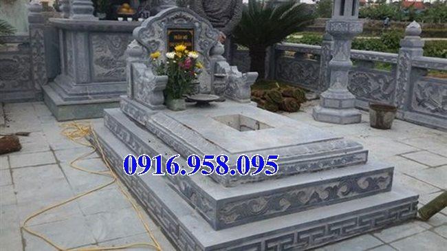 50 Mẫu mộ tam cấp bằng đá xanh đẹp 20
