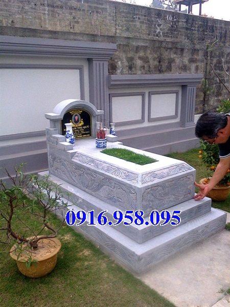 50 Mẫu mộ tam cấp bằng đá xanh đẹp 21