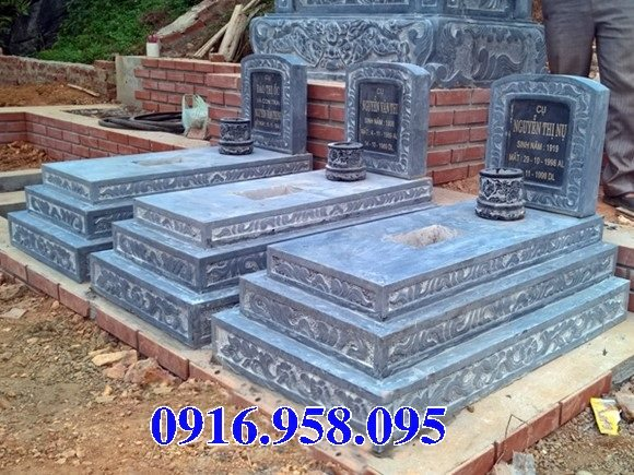 50 Mẫu mộ tam cấp bằng đá xanh đẹp 33