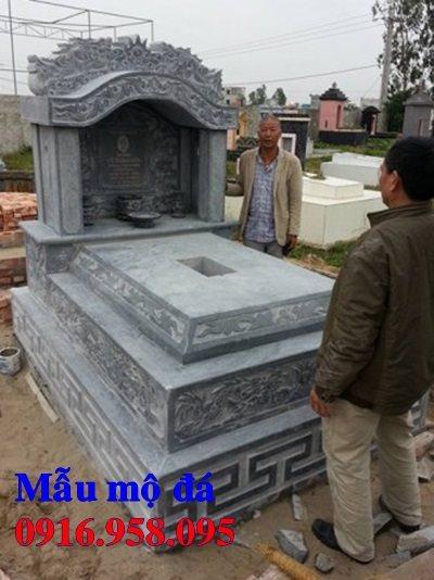 50 Mẫu mộ tam cấp bằng đá xanh đẹp 37