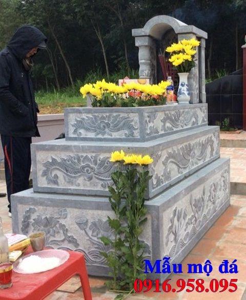 50 Mẫu mộ tam cấp bằng đá xanh đẹp 38