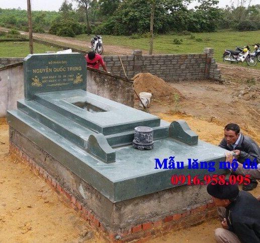 50 Mẫu mộ tam cấp bằng đá xanh đẹp 42