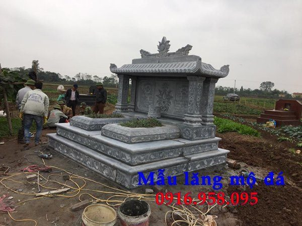 50 Mẫu mộ tam cấp bằng đá xanh đẹp 46