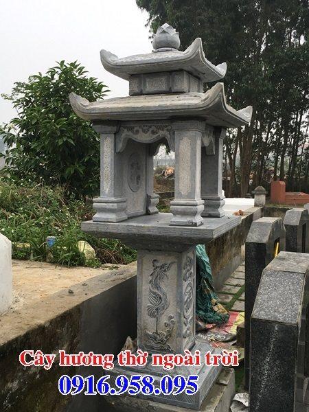 Cây hương đá thờ thiên ngoài trời có mái che 03