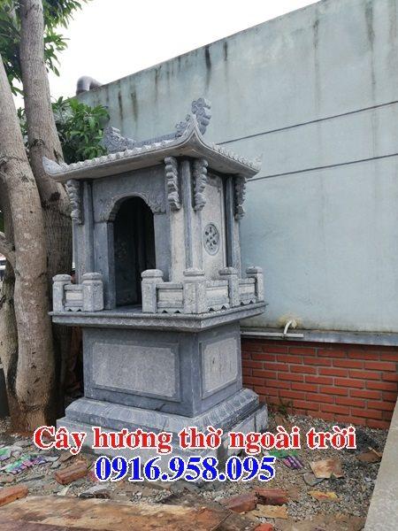 Cây hương đá thờ thiên ngoài trời có mái che 13