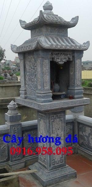 Cây hương đá thờ thiên ngoài trời có mái che 27