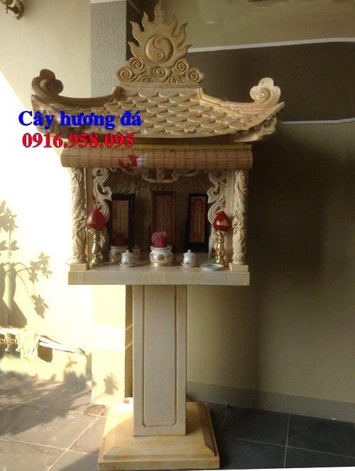Cây hương đá thờ thiên ngoài trời có mái che 29
