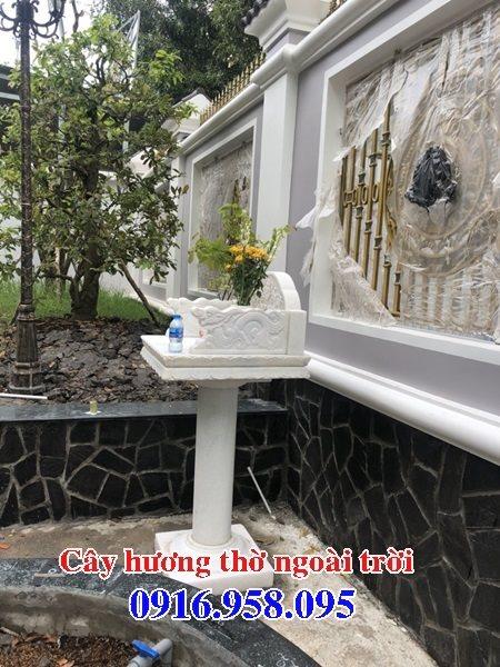 Mẫu cây hương thờ thiên ngoài trời không mái đẹp 04