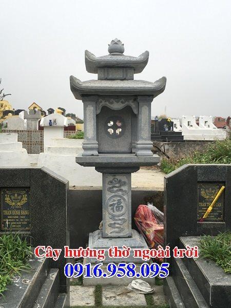 10 Mẫu cây hương nghĩa trang gia đình bằng đá 08