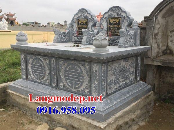 99 Mẫu lăng mộ đôi đẹp bằng đá xanh 03