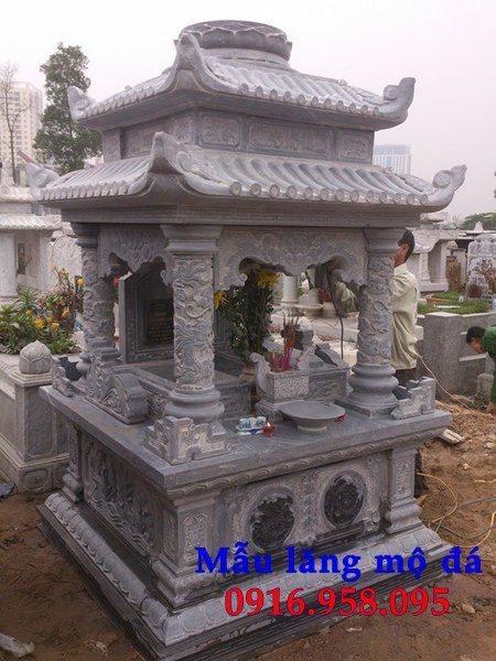 99 Mẫu lăng mộ đôi đẹp bằng đá xanh 102