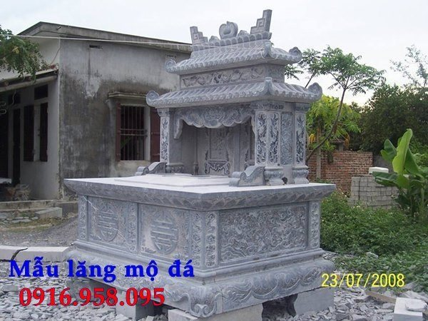 99 Mẫu lăng mộ đôi đẹp bằng đá xanh 103