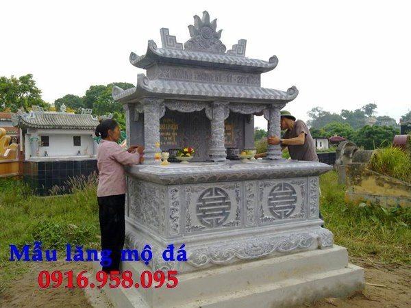 99 Mẫu lăng mộ đôi đẹp bằng đá xanh 105