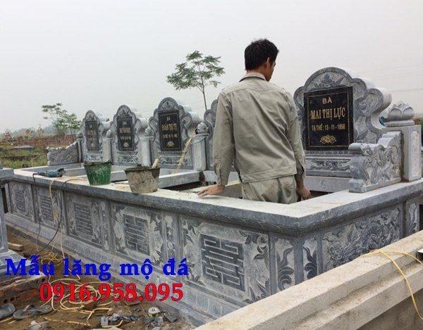 99 Mẫu lăng mộ đôi đẹp bằng đá xanh 106